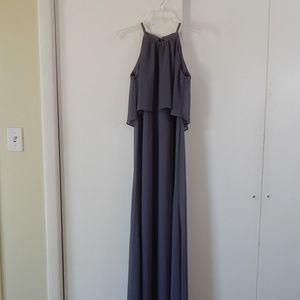 pewter DAVIDS BRIDAL F19773 bridesmaid dress 2